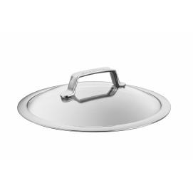 Couvercle en verre/inox 26 cm