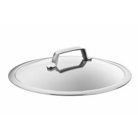 Couvercle en verre/inox 30 cm
